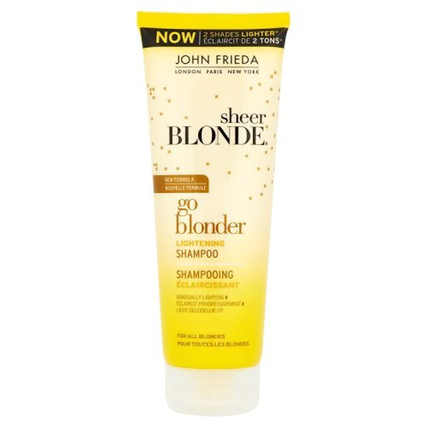 本土区別に勝るJohn Frieda Sheer Blonde Go Blonder Lightening Shampoo 250ml