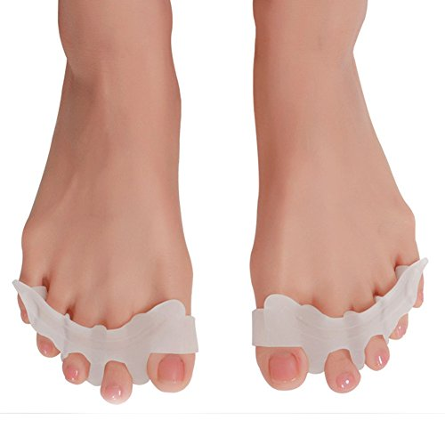 MOONCC 足指矯正パッド 外反母趾 サポーター フットケア 矯正装具 矯正ベルト シリカゲル 男女兼用 足指の間の摩擦と汗を軽減し 足指の曲がりや重なりを正す