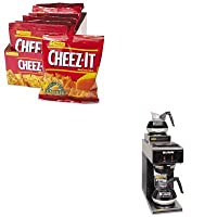 kitbunvp172blkkeb12233 – Valueキット – Bunnコーヒー12 - Cup two-station Commercial pour-o-matic Coffee Brewer (bunvp172blk) とKellogg 's cheez-it Crackers (keb12233 )