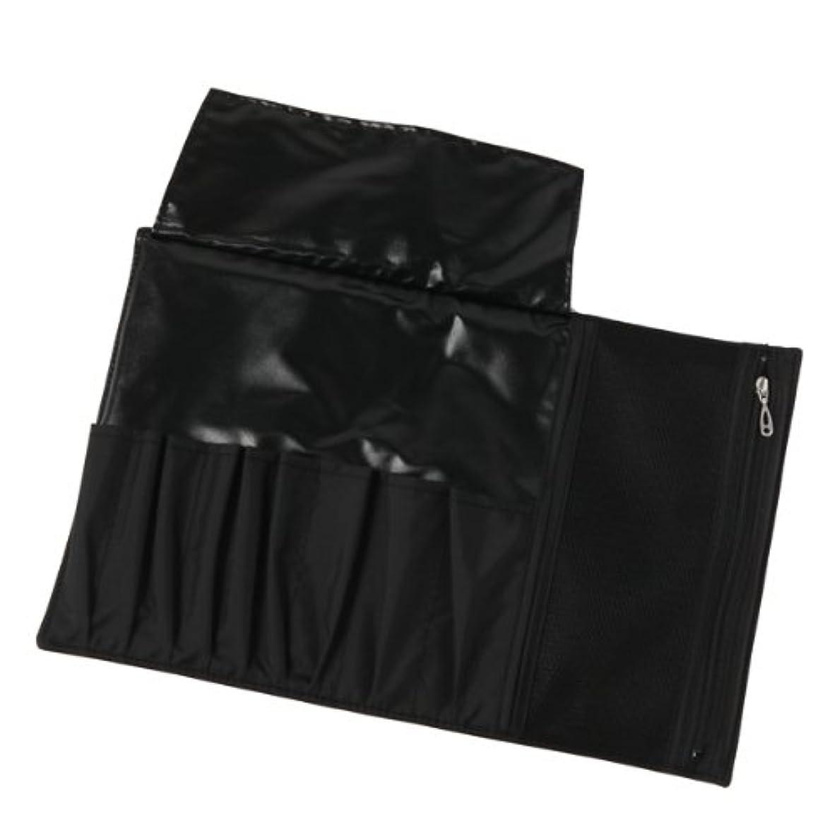 キャンバスジョガー市場メイクブラシ用 ナイロンブラシケース(黒) 長軸用