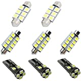 For Jeep Compass Patriot Grand Cherokee Wrangler SV8.5 Dome Interior Led Lights Bulbs Kit Accessories Ultra Bright White 8PCS