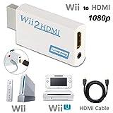 HDMIコンバーター Wii to HDMI 変換アダプタ WiiをHDMI接続に変換 HDMIケーブル付属 + HDMIケーブル