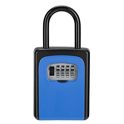キーボックス 屋外 鍵収納ボックス 南京錠 4桁 ダイヤル式