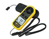 デジタル 風速計 簡単・手軽 風速計測 温度計搭載 コンパクト ポケットアネモメーター簡単日本語説明書付