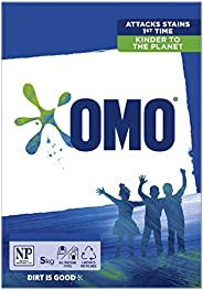 Omo Active Clean Laundry Detergent Washing Powder Front and Top Loader 5kg (Packaging May Vary)