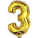 アルミ風船 バルーン オブジェ 巨大数字 ビッグ ナンバー 0-9組合自由 誕生日ハロウィン クリスマス イベント パーティー 結婚式飾り(3)