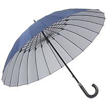 24本骨傘 高強度グラスファイバー仕様 【雨宿】 (あまやどり) 直径約105cm ネイビー 22818