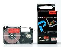 カシオ ネームランド用 互換 テープカートリッジ 24mm XR-24RD 赤地黒文字