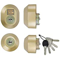 LIXIL(リクシル) TOSTEM ドア錠セット(MIWA DNシリンダー) ゴールド DGZZ3035