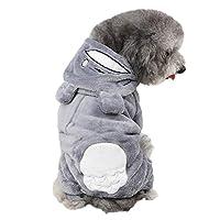 可愛い ペット犬服 Tシャツ フード付き パーカー 柔らかい サンゴフリース 防寒 コート 人気 ファッション 小型犬 中型犬 春秋冬服 お散歩お出かけウェア