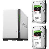 【NAS HDDセット】Synology DS218j & Seagate HDD [2ベイ / HDD IronWolf-1TBx2台同梱 / デュアルコアCPU搭載]