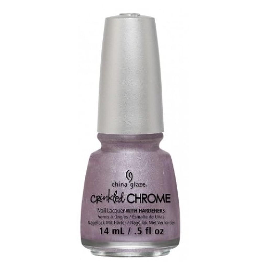 上昇正確さ甘くするCHINA GLAZE Nail Lacquer - Crinkled Chrome - Crush, Crush, Baby (並行輸入品)