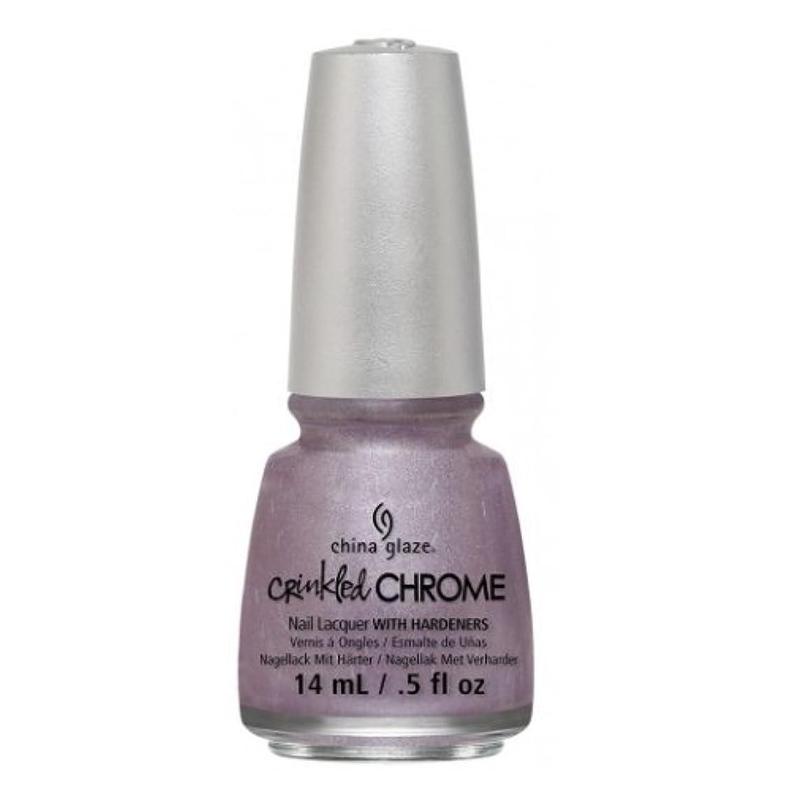 スポンサーテクニカル上向き(3 Pack) CHINA GLAZE Nail Lacquer - Crinkled Chrome - Crush, Crush, Baby (並行輸入品)