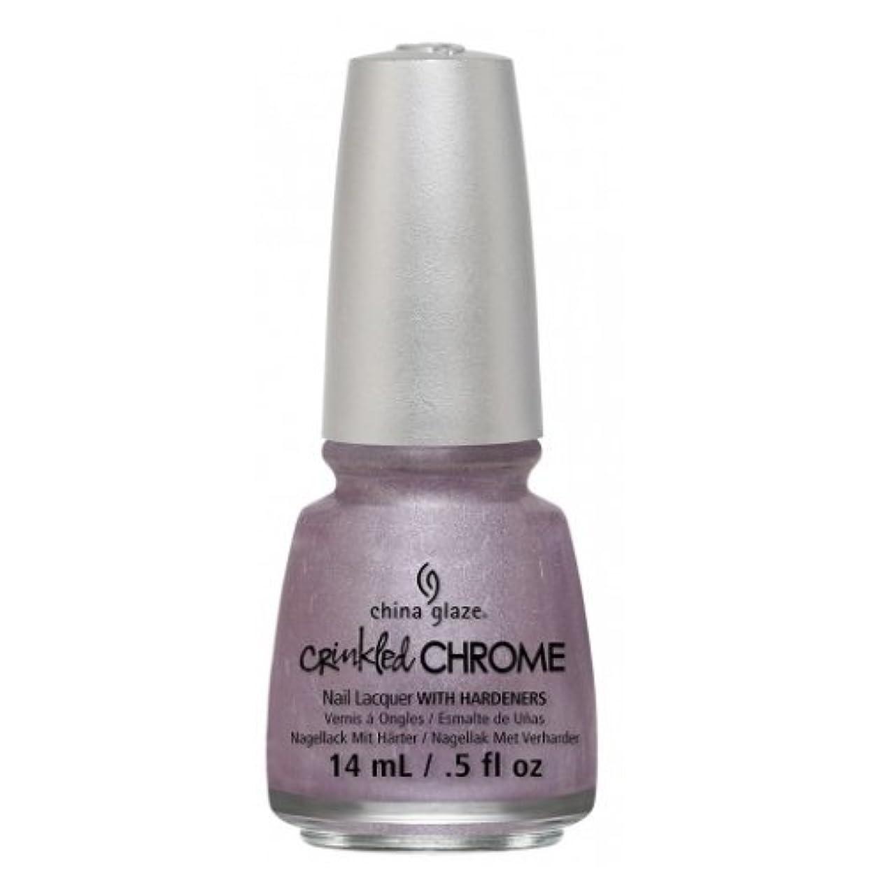 岸倉庫冗談で(6 Pack) CHINA GLAZE Nail Lacquer - Crinkled Chrome - Crush, Crush, Baby (並行輸入品)