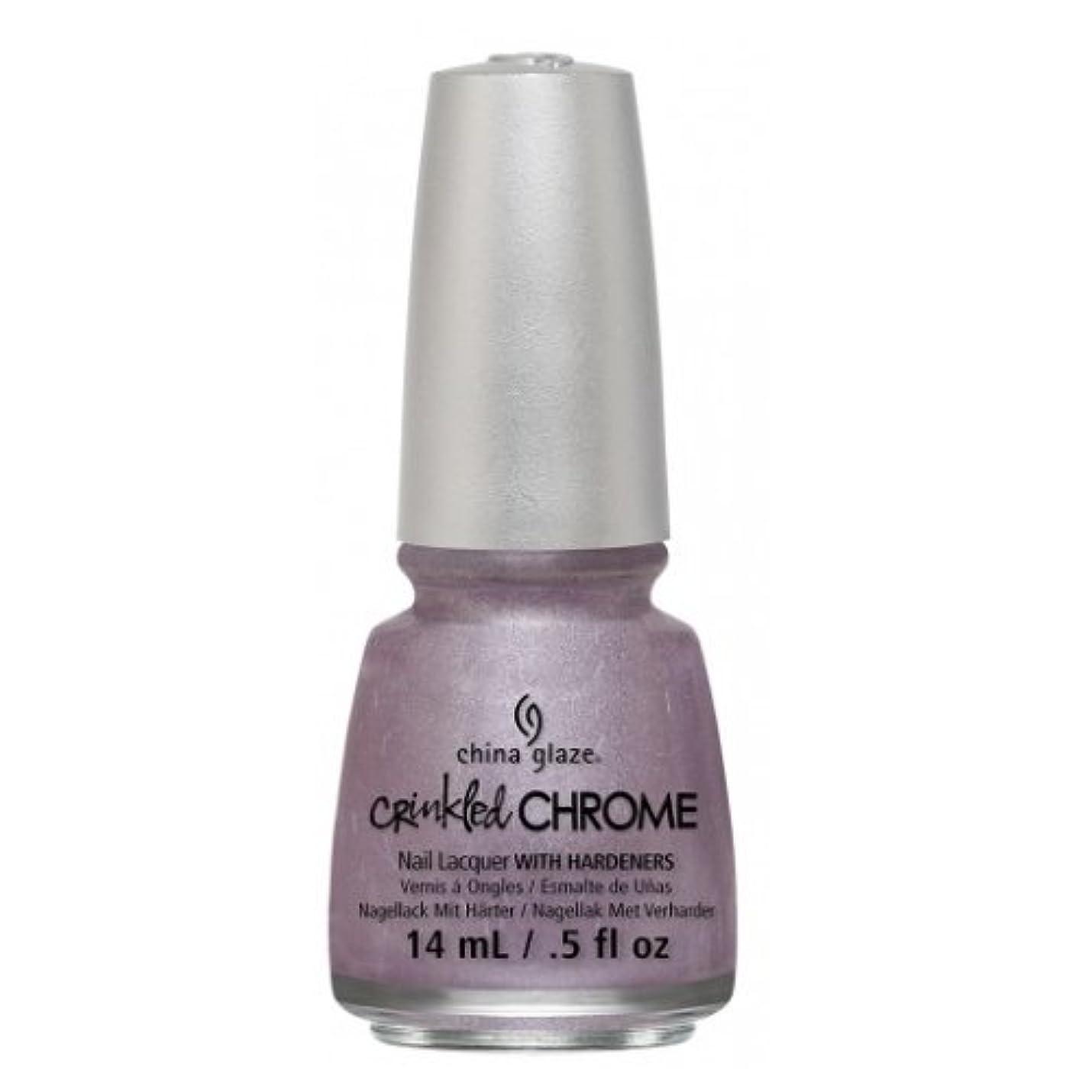 分割松販売計画(6 Pack) CHINA GLAZE Nail Lacquer - Crinkled Chrome - Crush, Crush, Baby (並行輸入品)