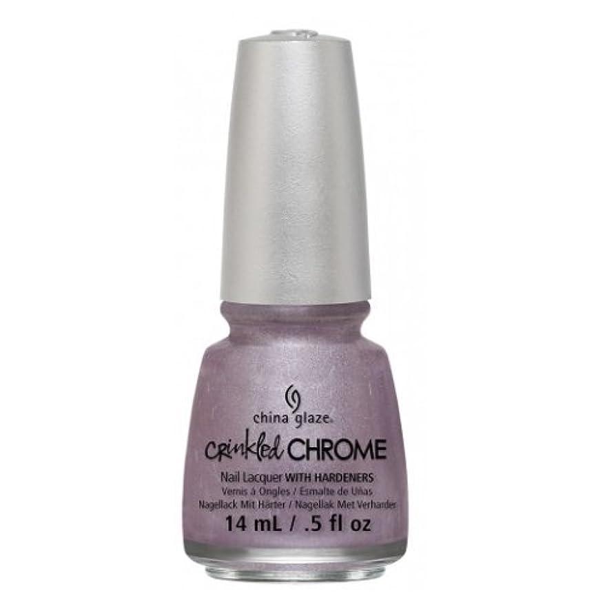 セブン腸子孫CHINA GLAZE Nail Lacquer - Crinkled Chrome - Crush, Crush, Baby (並行輸入品)