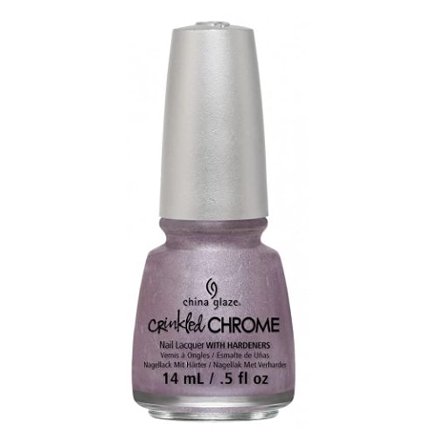 ラバ感覚歪める(6 Pack) CHINA GLAZE Nail Lacquer - Crinkled Chrome - Crush, Crush, Baby (並行輸入品)