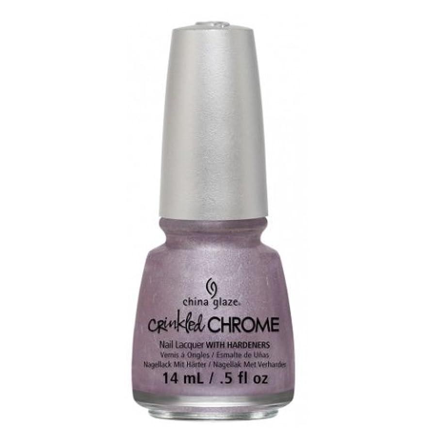 偏差やさしくワークショップCHINA GLAZE Nail Lacquer - Crinkled Chrome - Crush, Crush, Baby (並行輸入品)