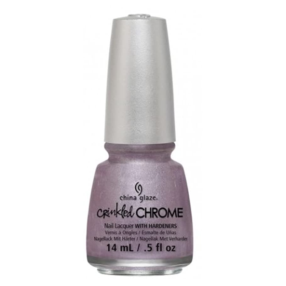 バース温度危険(6 Pack) CHINA GLAZE Nail Lacquer - Crinkled Chrome - Crush, Crush, Baby (並行輸入品)