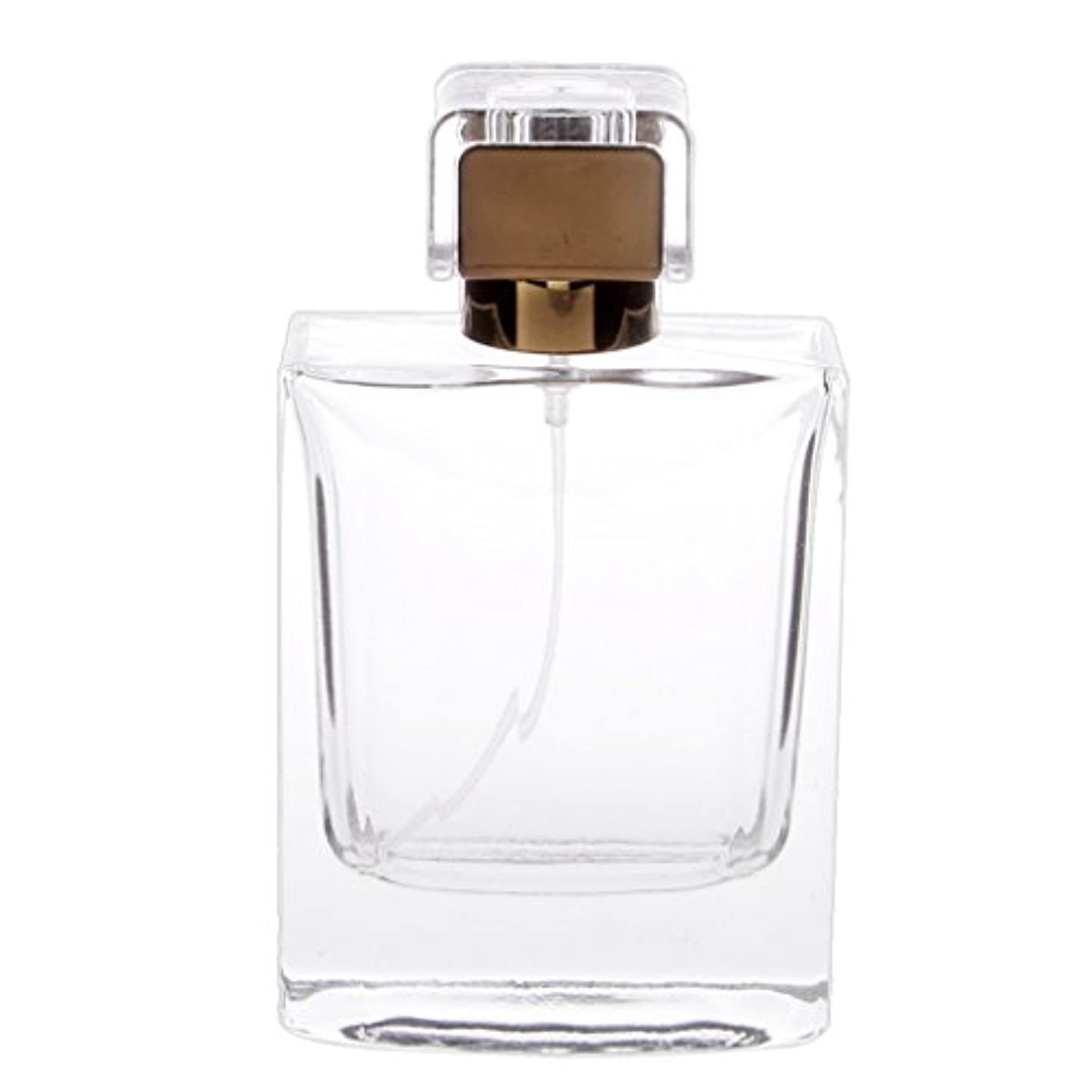 放棄攻撃減るノーブランド品  100ml  矩形 香水瓶 スプレーボトル アトマイザー 詰め替え 旅行携帯便利  - コー??ヒー