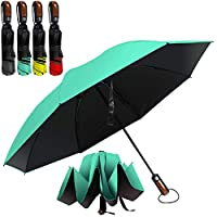 Hailstorm Inverted Umbrella. A Compact Umbrella with Ergonomic Handle, Full Fiberglass Ribs and UV Protection