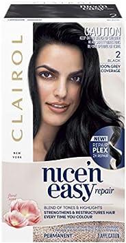 Clairol Nice'n Easy Repair Permanent Hair Colour, 2 Black, Pack