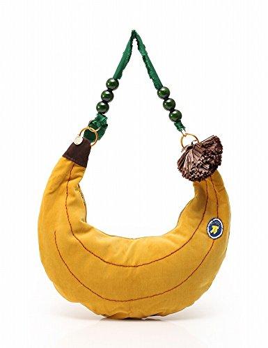 (ミュベール) MUVEIL ショルダーバッグ バナナ 黄 MA11 EBG704 中古
