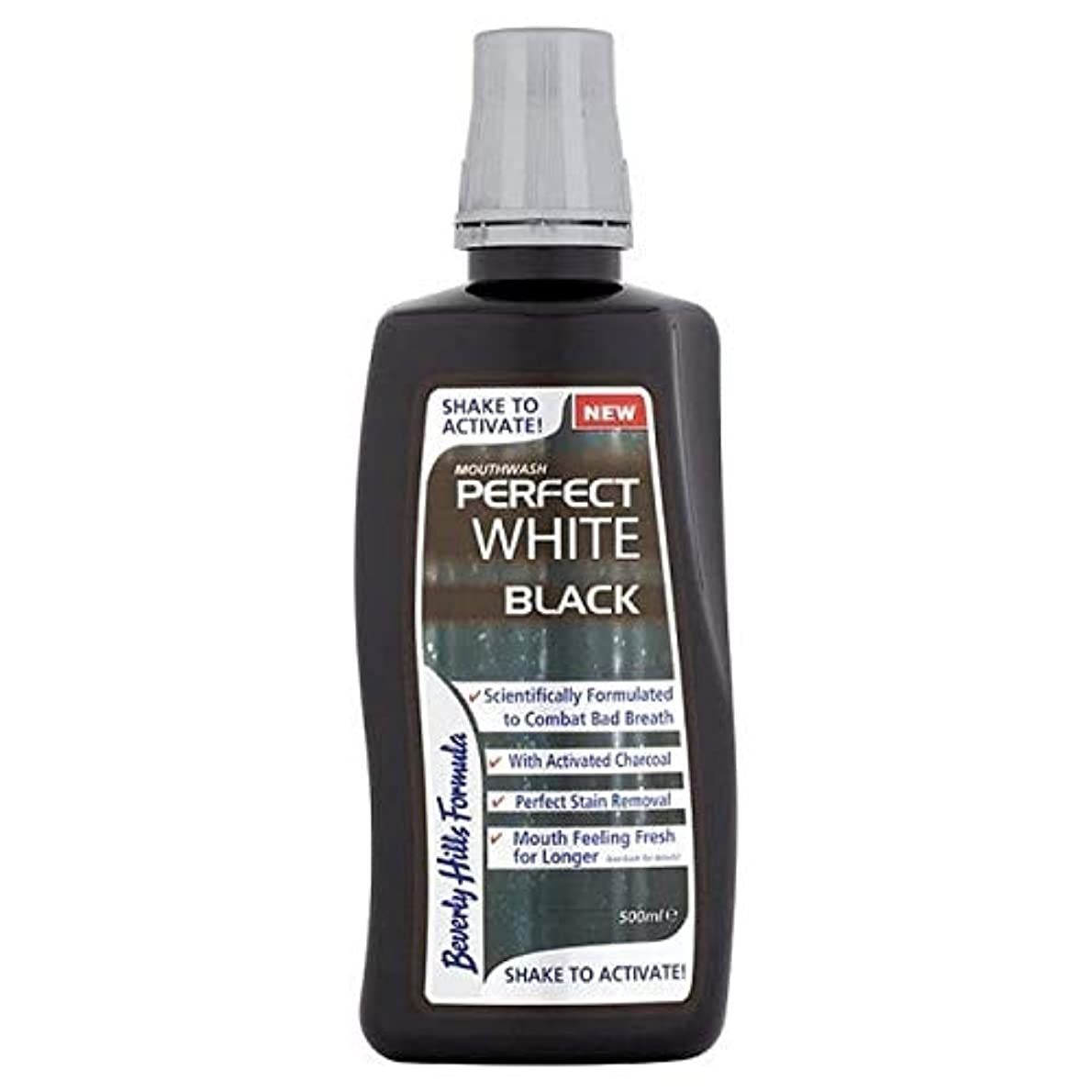 困惑する継承バナー[Beverly Hills ] ビバリーヒルズ式完璧な白黒マウスウォッシュ500ミリリットル - Beverly Hills Formula Perfect White Black Mouthwash 500ml [並行輸入品]