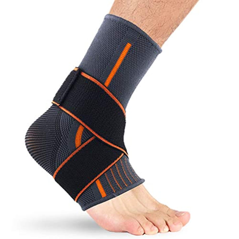真向こう支援アナログ足首装具サポート、足装具安定装置、弾性スポーツ足首サポート快適なナイロン保護スポーツ足首装置