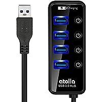 atolla USB3.0 ハブ 高速4ポートUSB HUB 独立スイッチ付、ケーブル長60cm