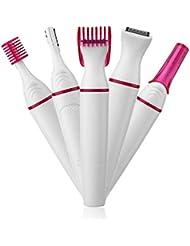 女性の電気眉毛脱毛器、1に5の防水キットに含まれている顔の電気かみそり鼻毛は眉毛の取り外しおよびビキニシェーバーを取除きます