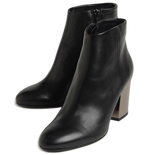 ファビオルスコーニ ブーツ チャンキーヒール FABIO RUSCONI ショートブーツ VIKY 915 ブラック 黒 (39 1/2 (25.0cm), ブラック)