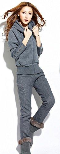 [해외]시스터 문 (sistermoon) 후드 스웨트 셔츠와 바지 상하 세트 앙상블 콘 비네 존 뒤에서 기모 스포티 캐주얼/Sister moon (sistermoon) Parker sweat jersey and pants upper and lower set ensemble Combinedison back brushed sporty casual