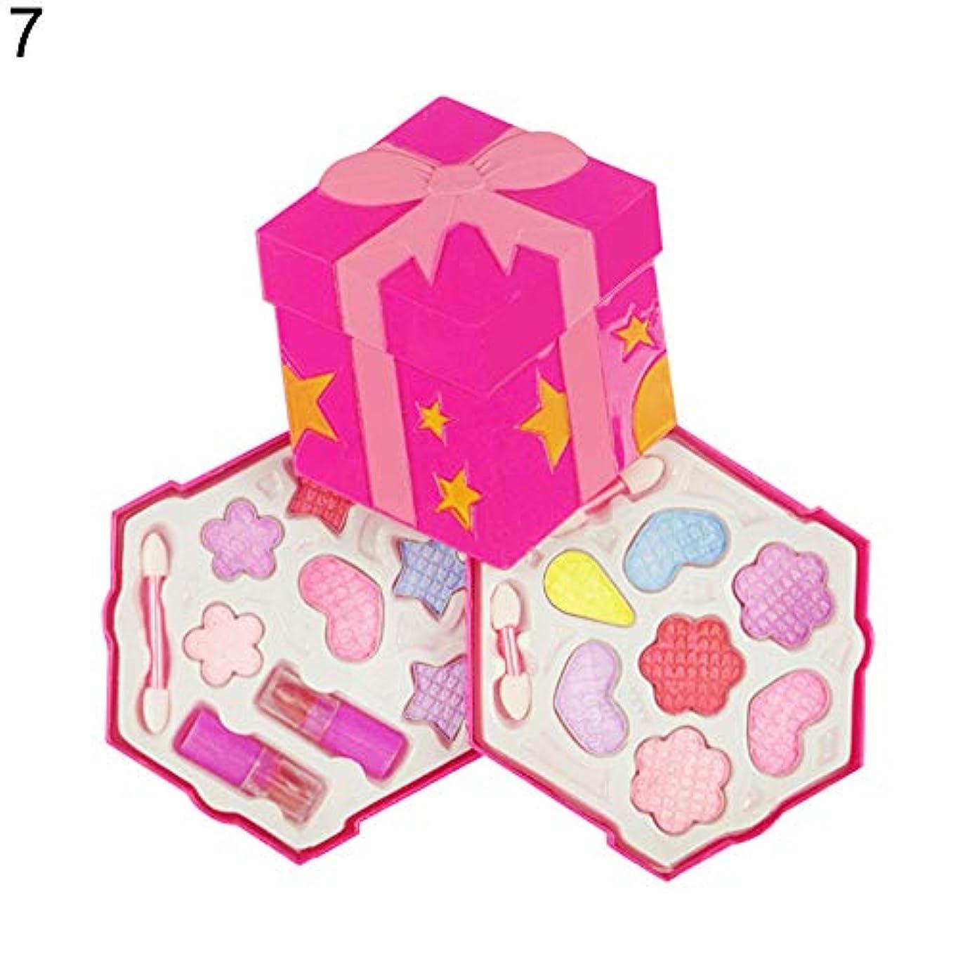 買い物に行くよろめく情熱的花蝶ふりプレイメイクセット女の子シミュレーション非毒性化粧品 - 7