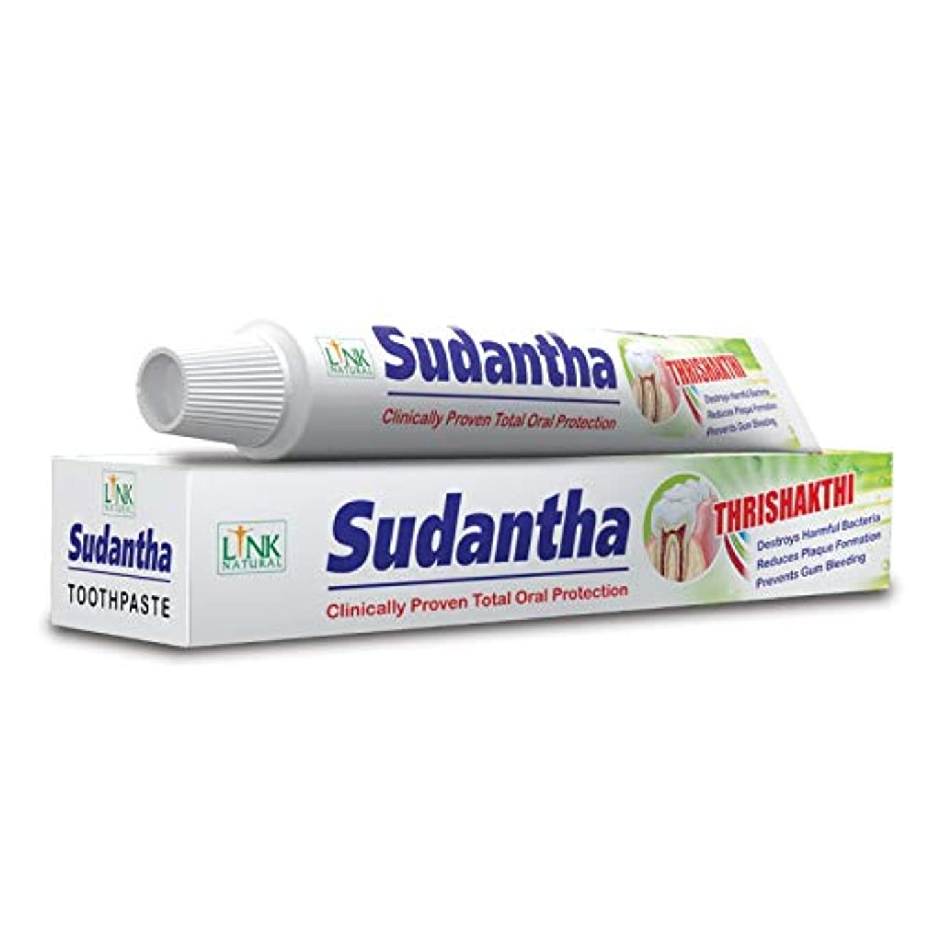 縫うひいきにする間隔2 x 80 g リンクSudanthaホメオパシーHerbal Toothpaste for合計Oral保護