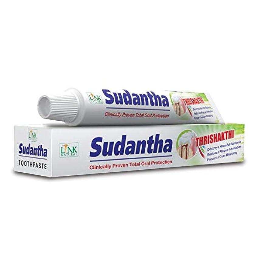 やけど滑りやすいシリング2 x 80 g リンクSudanthaホメオパシーHerbal Toothpaste for合計Oral保護