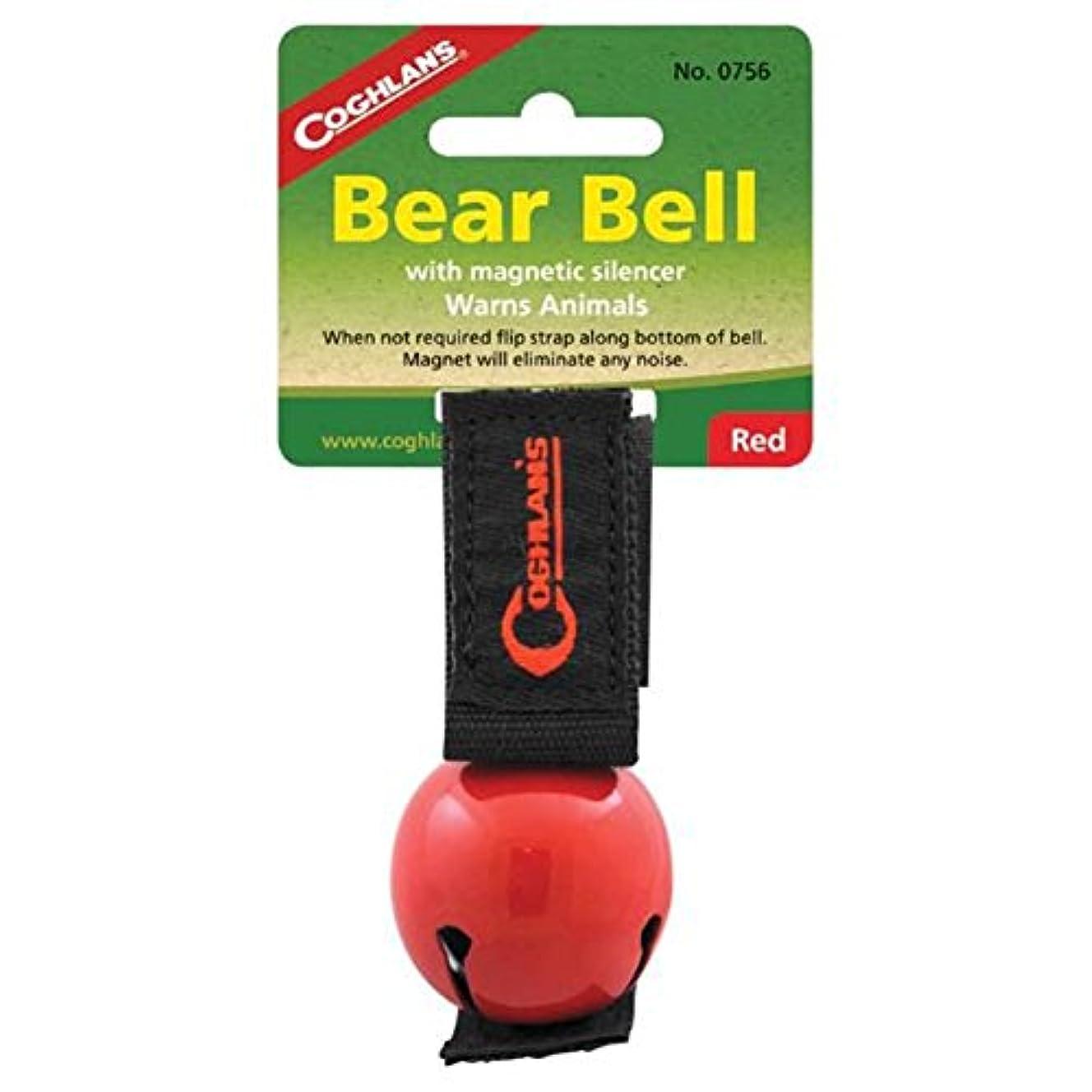 一人で経験的非難Coghlan's RED Bear Bell Metal w/ Magnetic Silencer by Coghlan's