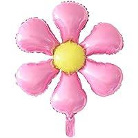 uxcell ホイル 花の形 ヘリウム風船 結婚式 パーティー お祝い 飾り ピンク。 イエロー 66cm