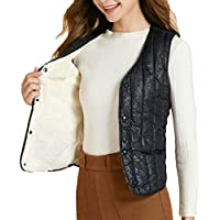 Women's Quilted Zip Up Lightweight Fleece Lined Padding Vest