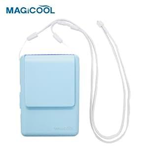 携帯型(首かけ)扇風機 マイファンモバイル(ブルー)首もとに送風 熱中症・暑さ対策(通勤通学・オフィス・野外活動・他)DOCMFMD1BL