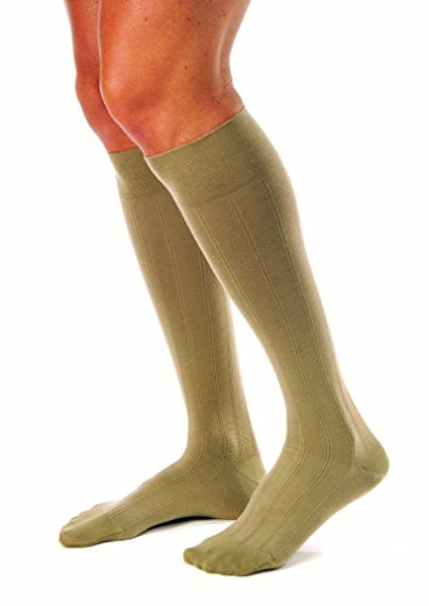 迅速メッセージ麻痺Jobst 113126 for Men 20-30 mmHg Firm Casual Knee High Support Socks - Size & Color- Khaki Large