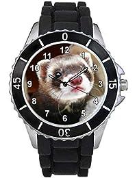 フェレットユニセックスシリコン腕時計