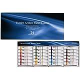 ターナー色彩 専門家用透明水彩絵具 24色セット WT00524C 5ml