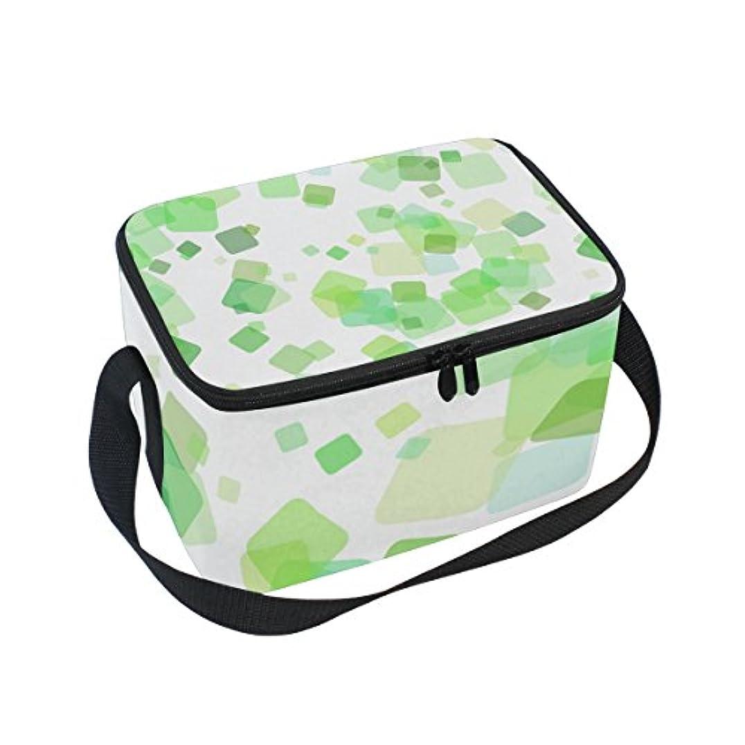 羨望庭園砲兵クーラーバッグ クーラーボックス ソフトクーラ 冷蔵ボックス キャンプ用品 緑正方形 保冷保温 大容量 肩掛け お花見 アウトドア