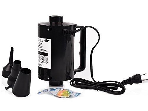 パラディニア(Paladineer)電動ポンプ エアーポンプ AC電源 コンセント ビニールプール エアーベッド アウトドア 家庭用 レジャー 給気排気 簡単便利 3種類のノズル付き 品質保証