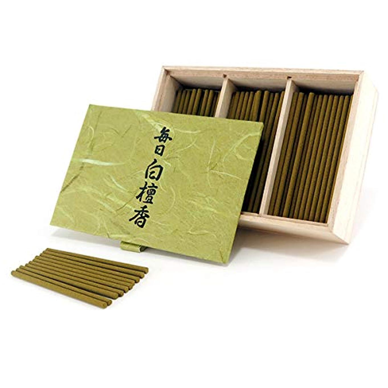 艦隊適応的撤回する日本香堂のお香 毎日白檀香 スティックミニ寸お徳用150本入り