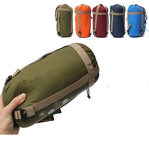 CAMTOA アウトドアシュラフ 寝袋 封筒型 シュラフ 超軽量 ミニ収納 キャンプシュラフ アウトドア キャンプ 登山 車中泊 丸洗い 収納袋付き