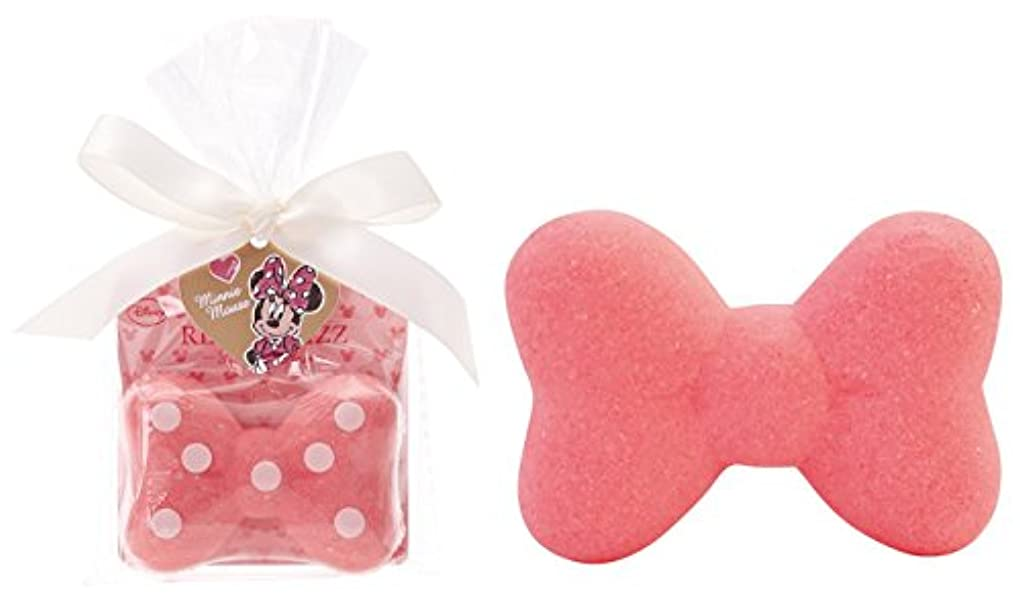 アルバム信じられない収容するディズニー 入浴剤 ミニーマウス リボン バスフィズ 30g ロマンスローズの香り DIP-82-01