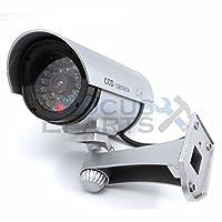 ファッションBullet赤外線ダミーフェイクセキュリティCCTV監視カメラLEDセンサーライトSliver