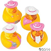 Baby Bath Toys - Rubber Duck Toy - 12-Pack Rubber Ducks - Cowgirl theme [並行輸入品]